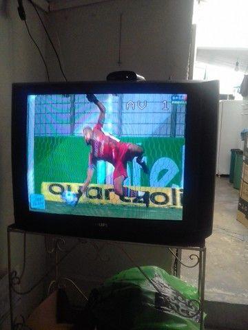 Tv philips tubo com conversor digital