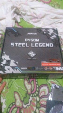 Vendo placa mãe steel legend b450m zerada