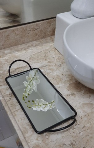Bandeja Espelhada Para Banheiro Super Luxo  - Foto 2