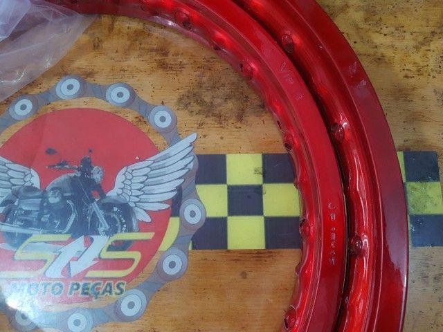 Aro roda dianteiro/traseiro BROS/XRE190 Viper - Foto 2