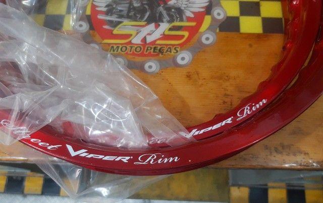 Aro roda dianteiro/traseiro BROS/XRE190 Viper - Foto 3