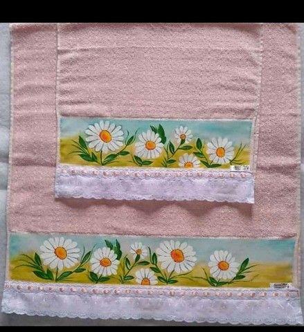Kit toalha de banho e toalha de rosto  - Foto 4
