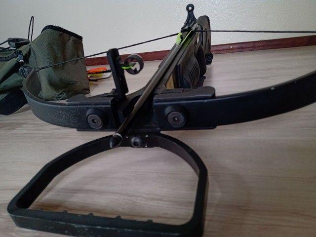Balestra - Besta - Crossbow Jandao Recurva 150lbs Chace Wind - Usada - Foto 2