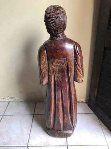 Imagem Sacra Padre Cícero Madeira Maciça grande em Fortaleza - Foto 4