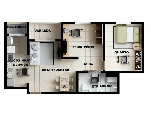 Apartamento 2/4 com suíte - Entrada Facilitada - 1 minuto da FTC - Bairro SIM - Foto 18