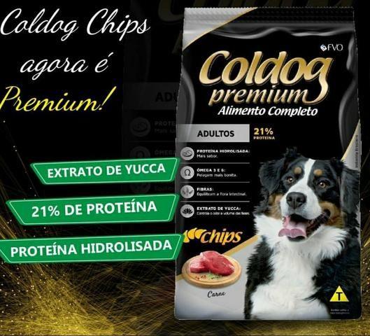 Ração Coldog Premium. *Chips* Adulto 25kg * Avista