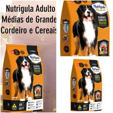 Ração Nutrigula Premium Adulto 25kg *Avista* Sabor Cordeiro e Cereais + Asai
