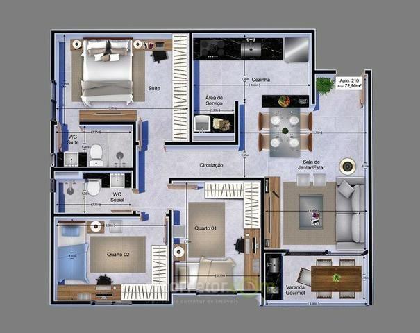 Apartamento para vender, Jardim Cidade Universitária, João Pessoa, PB. Código: 00788b - Foto 15