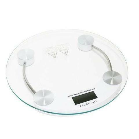 Balança Banheiro Pesagem Digital Vidro Temperado Até 180 Kg
