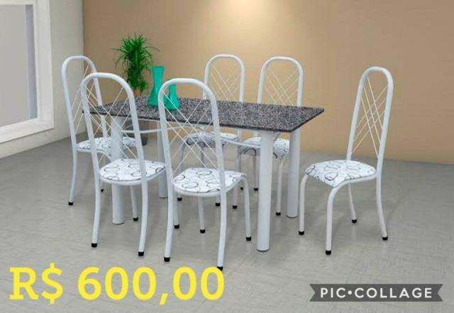 Mesa grantio 6 cadeiras por 600,00 - Foto 2