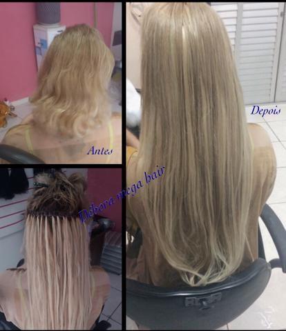 Promoção! Aplicação de mega hair 100,00!