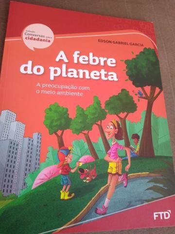 Livro paradidático A febre do planeta