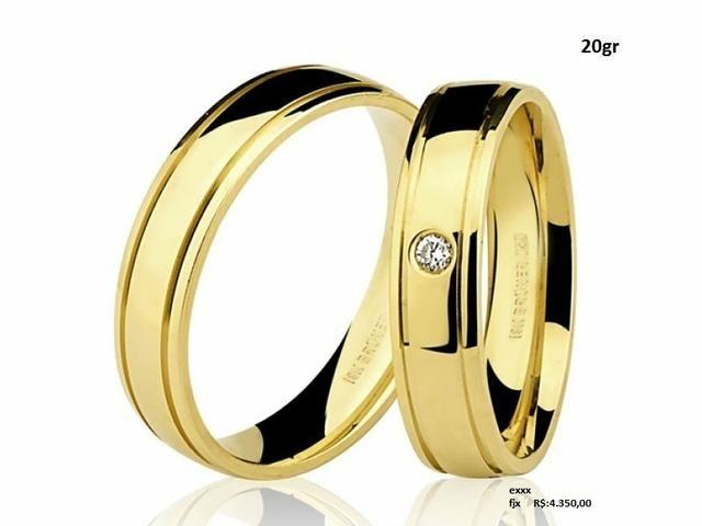 Aliança de casamento, em ouro 18k, em até 12x no Cartão Premium!! - Foto 3