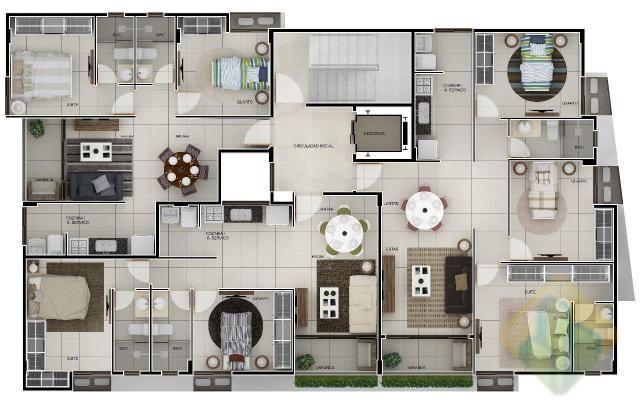 Lançamento! - Apartamento Duplex com 3 dormitórios à venda, 144 m² por R$ 605.303 - Aerocl - Foto 11