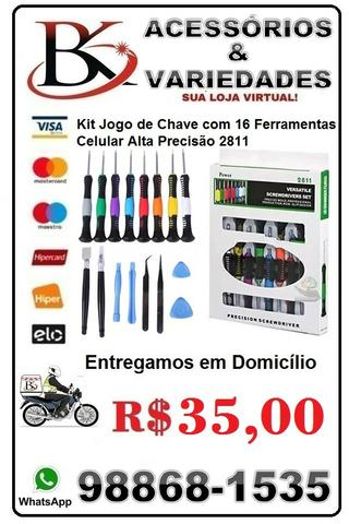 Kit Jogo de Chave de Celular Alta Precisão 2811.