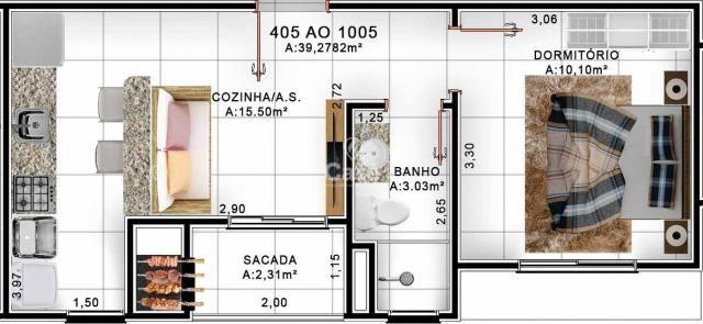 Apartamento de 1 dormitório com garagem no Centro de Santa Maria - Foto 8