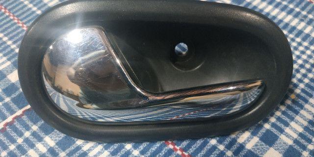 Par Maçaneta Interna Puxador Porta Renault Logan 2014 a 2018