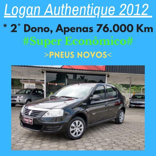 Logan Authentique 2012/ 2º Dono/ Baixa Km