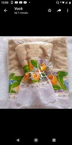 Kit toalha de banho e toalha de rosto  - Foto 2