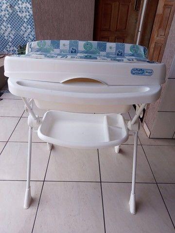 Banheira Bebê Suporte Splash - Peixinho Azul  - Foto 5