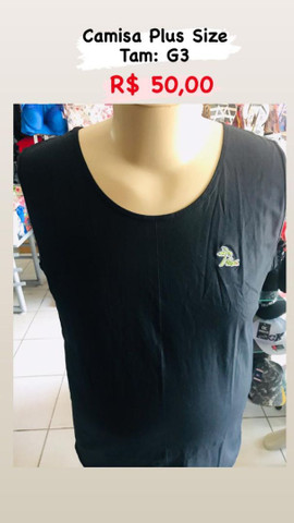 Lojas de roupas pluizsize masculina - Foto 6