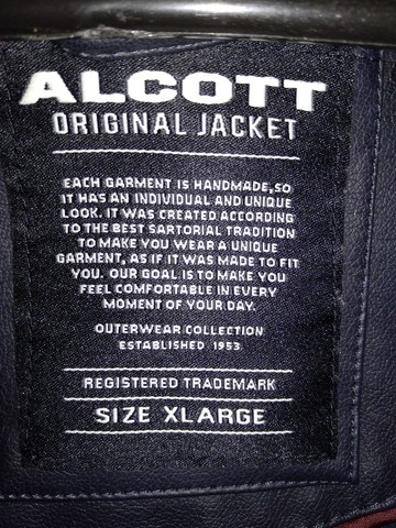 Jaqueta de couro Italiana Alcott(extra grande) - Foto 6