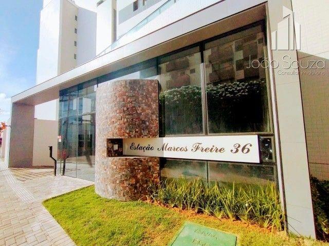 BR- Lindo apartamento na beira mar de Casa Caiada com 95m² - Estação Marcos Freire - Foto 9