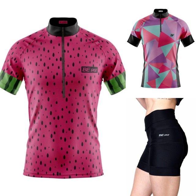 Camisas e bermuda feminina de ciclismo  - Foto 6