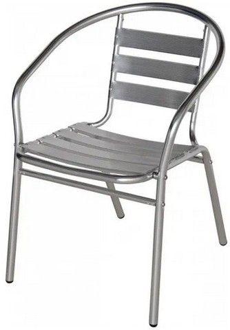 Cadeira Poltrona em Aluminio para Área Externa