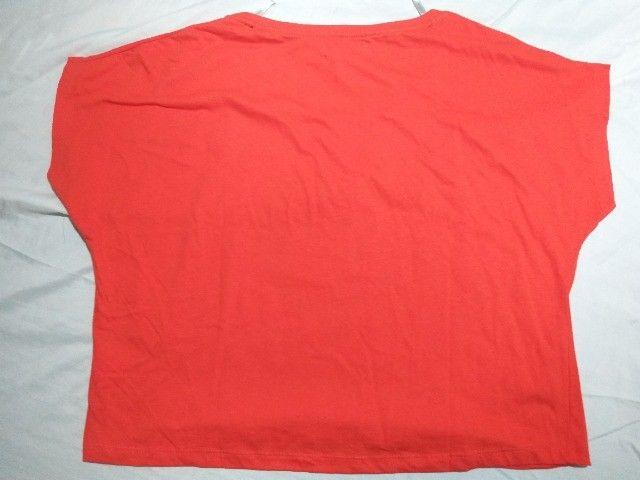 blusinha tipo clopped  algodão  Marisa    Nº  M  e G vermelha  - Foto 4