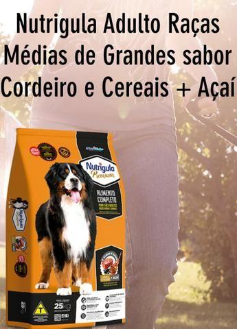 Ração Nutrigula Premium Adulto 25kg *Avista* Sabor Cordeiro e Cereais + Asai - Foto 2