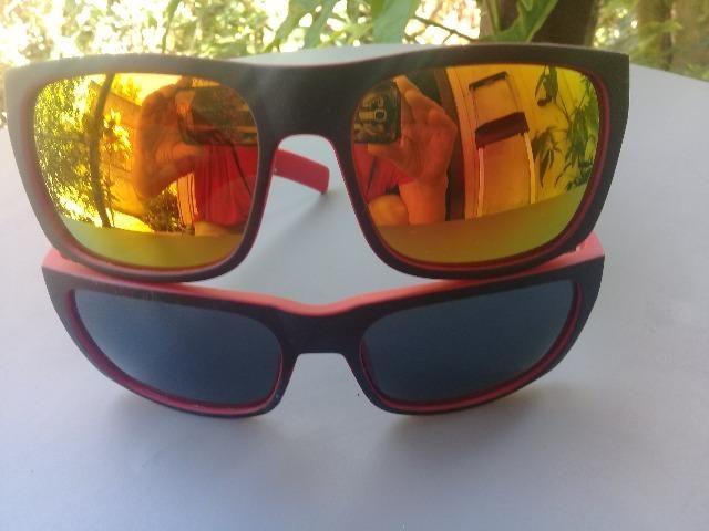 Óculos escuros vermelhos novos 20 reais cada - Foto 3