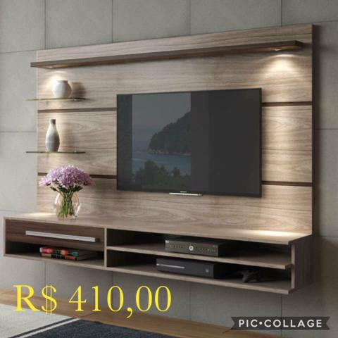 Painel veneza com tv até 55p (leds e suporte grátis) - Foto 4