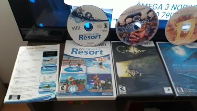Game Wii desbloqueado com manual e 4 controles jogos por 400 - Foto 4