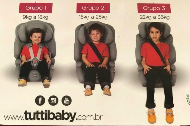 Poltrona Nina Tutti Baby , 09 a 36Kg Para uso ate os 7 anos - Foto 2