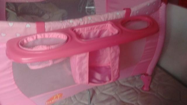 Berço desmontável rosa - Foto 5