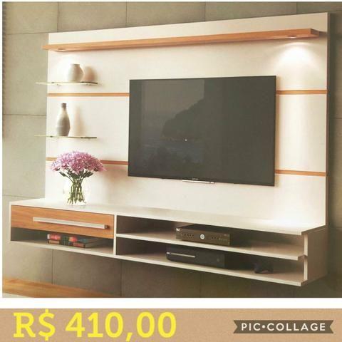 Painel veneza com tv até 55p (leds e suporte grátis)