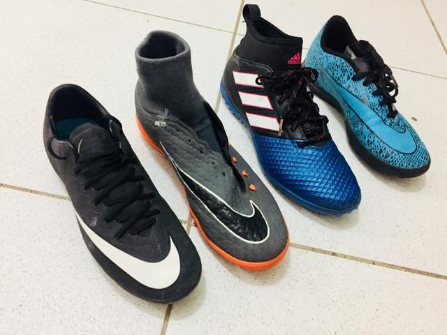6604e7d17b Chuteiras originais Nike e Adidas. Oportunidade! - Esportes e ...