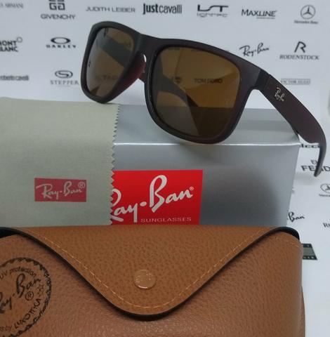 Óculos Ray Ban Justin Marrom Polarizado Novo - Bijouterias, relógios ... b3d295c370