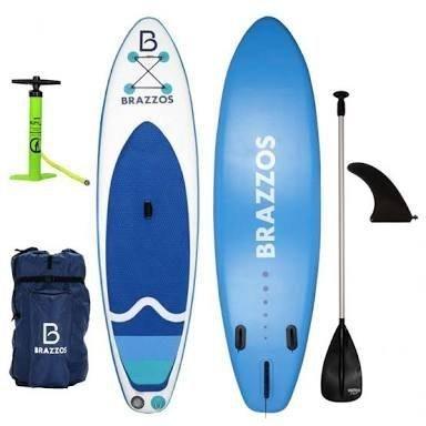 60d7da173 Prancha stand up inflável Brazzos S BIG branco e azul - Esportes e ...