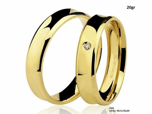 Aliança de casamento, em ouro 18k, em até 12x no Cartão Premium!! - Foto 4