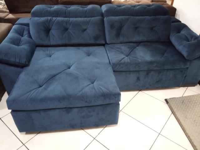 Sofá retrátil e reclinável 2,60 - Foto 2