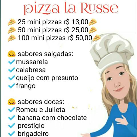 Mini pizzas la russe