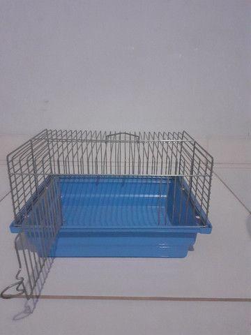 Kit gaiolas para hamsters: gaiola trasportadora e gaiola redonda 3 andares - Foto 4
