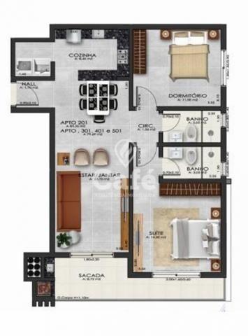 Apartamento 2 Dormitórios com Suíte - Foto 2