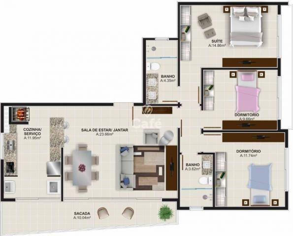 Òtimo empreendimento com 3 Dormitórios, 1 suíte. - Foto 12