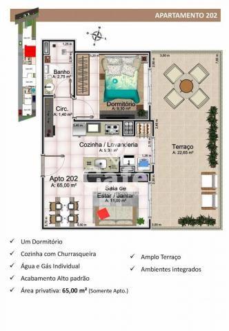 Apartamento à venda com 1 dormitórios em Nossa senhora medianeira, Santa maria cod:0596 - Foto 3