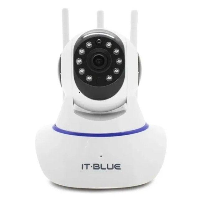 Câmera De Segurança Ip Com Infravermelho Wi-fi It-blue Sc-b3