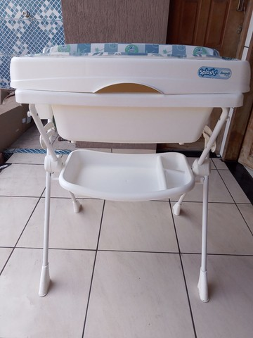 Banheira Bebê Suporte Splash - Peixinho Azul  - Foto 2