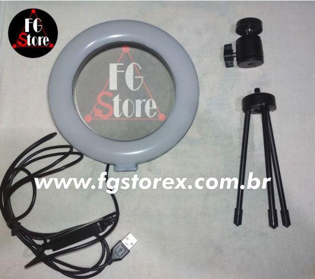 Ring Light 16cm com tripé de mesa - Foto 3